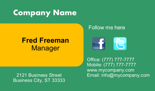 Business Card 6 Front