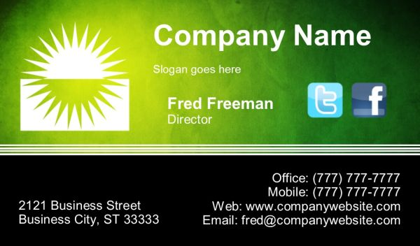 Business Card #20 - Front