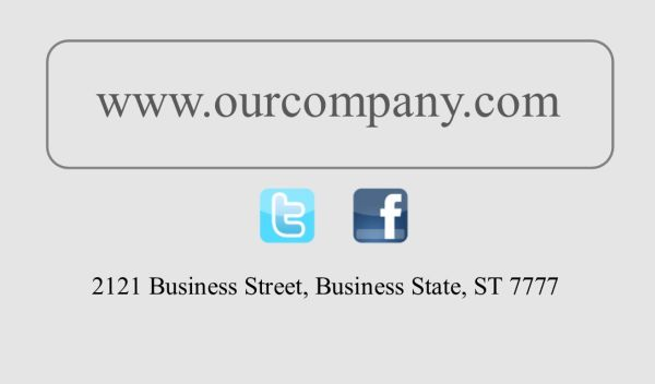 Business Card #21 Back