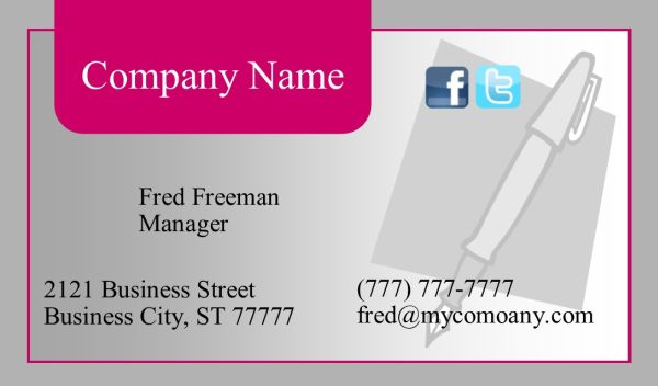 Business Card #23 Front