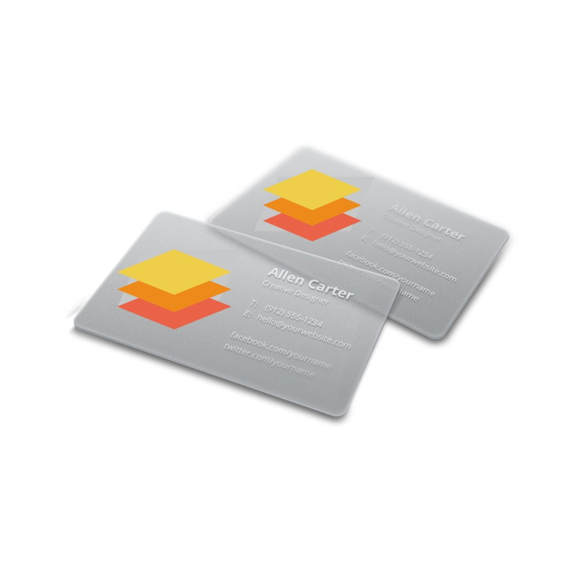Frosted Plastic Business Cards   Qualita Print